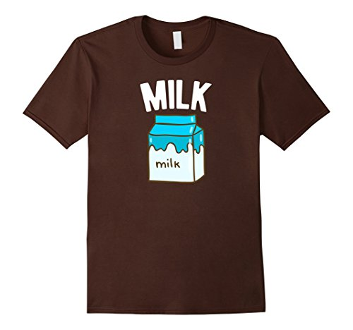 Men's Milk & Cookies - Matching Pair Funny Halloween Costume Shirt 2XL Brown
