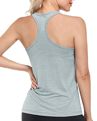 Promover Racerback Petite Workout Tank Tops for Women Slim Fit Quick Dry Yoga Running Athletic Shirts