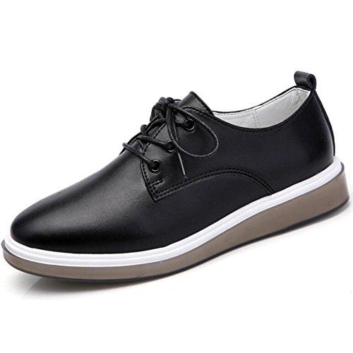 Zapatos Las de c Zapatos Zapatos Mujeres Casuales o Primavera Zapatos de Ocasionales Verano Zapatos oto Cuero Solos xEFw8qa1