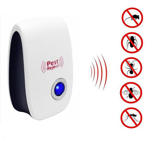 Ultrasonic Pest Repeller, Kokome Home Indoor Pest Control Extra Effective Plug In Electronic Mosquito Repellent with Night Light for Rodents Insects Mice Bugs Roaches Flies Spiders Lizards