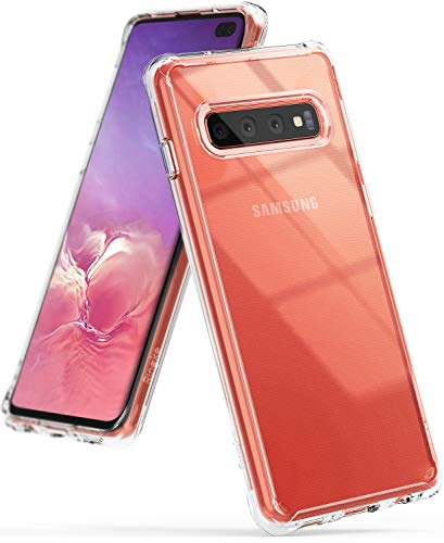 Ringke Fusion Designed for Galaxy S10 Plus Case Crystal PC Back Drop Protective Cover for Galaxy S10 Plus (6.4) - Clear