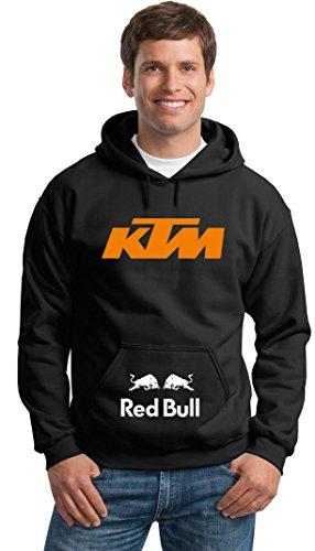 Felpa Con Cappuccio KTM Red Bull racing Personalizzata Nera