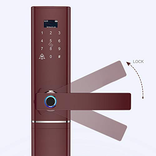 BLWX - Intelligent Door Lock - Zinc Alloy - Wear-Resistant + Heat-Resistant Cold - Fingerprint Lock Home Security Door Smart Lock Electronic Lock Password Lock Door Lock Home Door Lock - Size: 37.8 X by BLWX-home renovation. Door lock (Image #1)