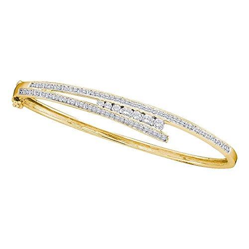 1.00ctw Round Diamond Journey Bangle Bracelet (Bangle Journey Bracelet Diamond)