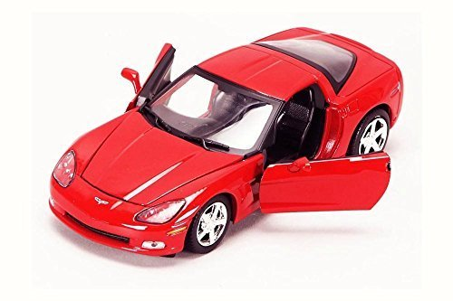 (Motor Max 2005 Chevy Corvette C6, Red 73270AC - 1/24 Scale Diecast Model Toy Car )