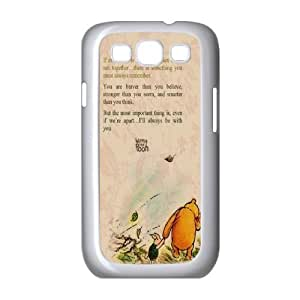 WEUKK Winnie the Pooh quote Samsung Galaxy S3 I9300 case, customized phone case for Samsung Galaxy S3 I9300 Winnie the Pooh quote, customized Winnie the Pooh quote cover case