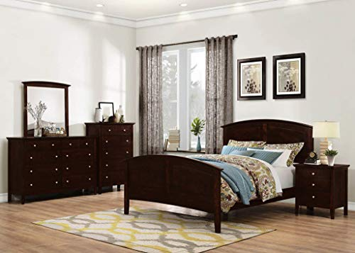 GTU Furniture Transitional Styling Metro 6Pc Wooden Full Bedroom Set(F/D/M/2N/C)