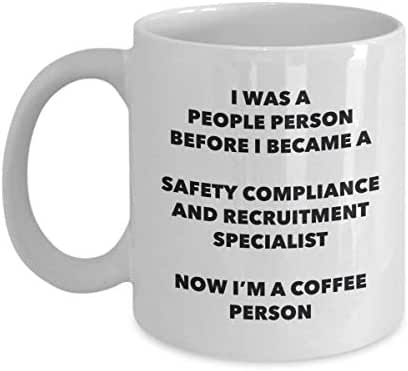 Safety Compliance And Recruitment Specialist Coffee Person Mug - Funny Tea Cocoa Cup - Birthday Christmas Coffee Lover Cute Gag Gifts Idea