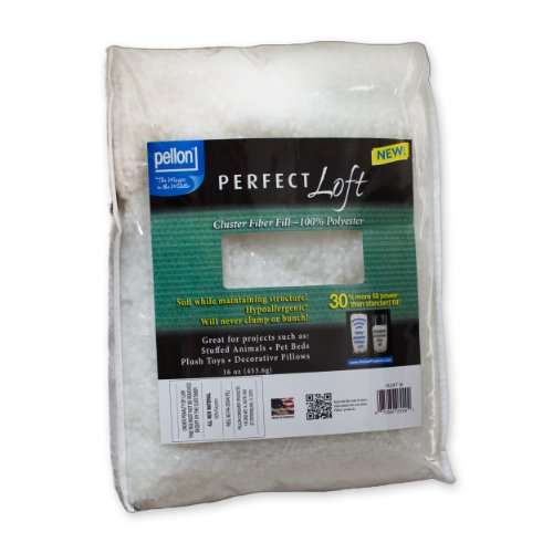 Best Prices! Pellon PLOFT16 Perfect Loft Cluster Stuffing Fibers, White