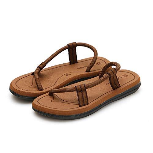 A Ciabatte Flops Lianmengmvp Spiaggia Piatta Pantofole Sandali Punta Casual Con Pantofola Scarpe Cachi Fondo Donna Mare Da Flip HxqBxt
