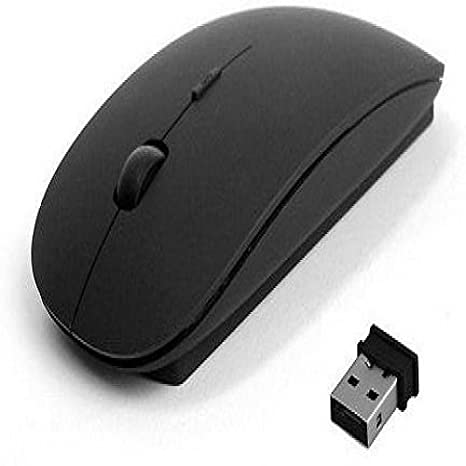 Oxza Real Power 2.4Ghz Ultra Slim Wireless Optical Mouse  USB, Black  Gaming Mice