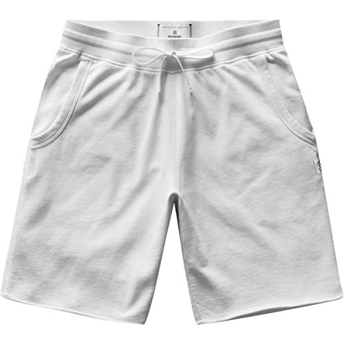 Reigning Champ Men's Lightweight Cutoff Sweat Shorts, White, Large