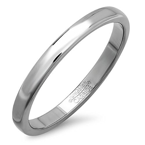 Tungsten Carbide Wedding Polished Available