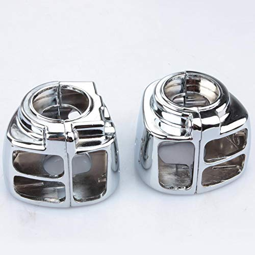 (BARRY DAVID - Chrome Motorcycle Motorbike Switch Housing Cover Caps For 1996-2006 Harley Dyna Softail Wide Glide Fatboy Sportster XL 883 1200)