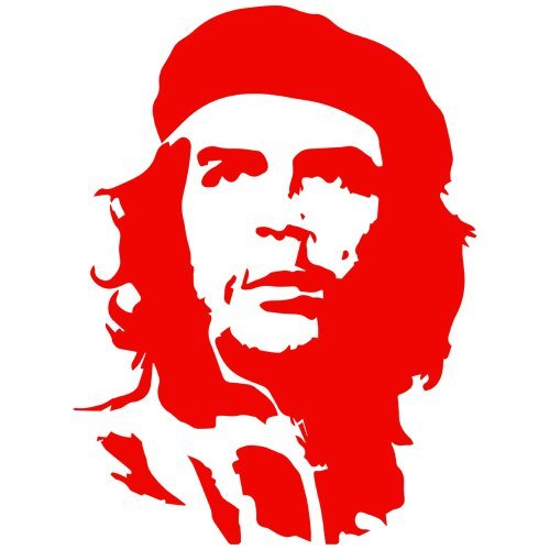 Set of 3 - Che Guevara Decal Sticker Color: red- Peel and Stick Vinyl Sticker
