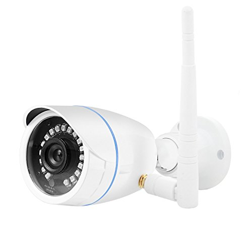 Wireless Security Camera, 720p LeFun Wireless Indoor/Outdoor Camera Home Surveillance Camera with WiFi Connection Waterproof Night Vision Motion Detect Remote Viewing for Home Security System