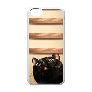 lovely cat Custom Cover Case for iPhone 5C, Custom lovely cat Cell Phone Case
