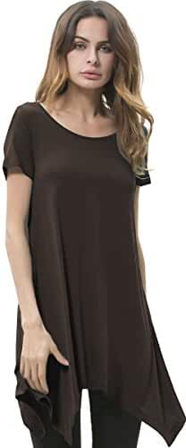 Songbai Womens Swing Tunic Tops Loose Fit Comfy Flattering T Shirt