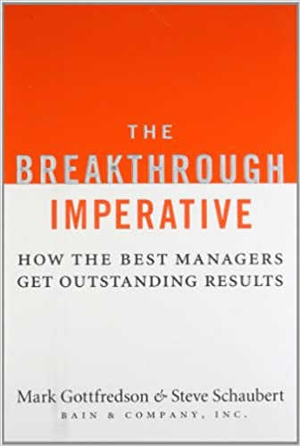 Read The Breakthrough Imperative: How the Best Managers Get Outstanding Results PDF, azw (Kindle), ePub