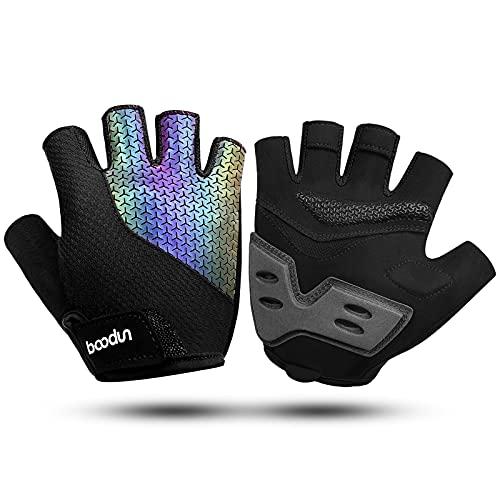 KONVINIT Fietshandschoenen, halfvingers, zomer, fietshandschoenen, antislip en schokabsorberend, MTB-handschoenen heren…