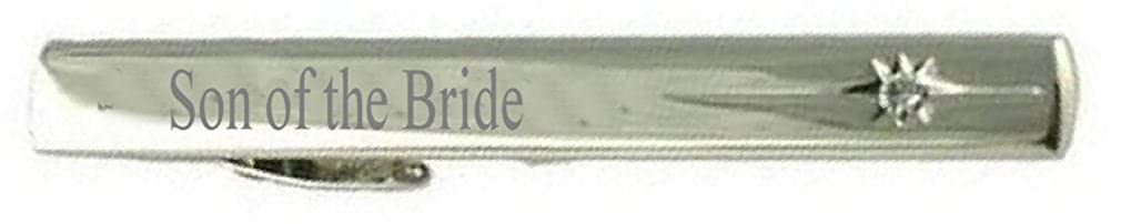 Keepsake Engraved Message Box Select Gifts Son of The Bride Wedding Title Tie Clip Bar
