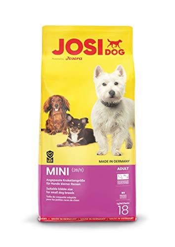 JosiDog Mini (1 x 18 kg) | Hundefutter für kleine Rassen | Premium Trockenfutter für ausgewachsene Hunde | powered by…