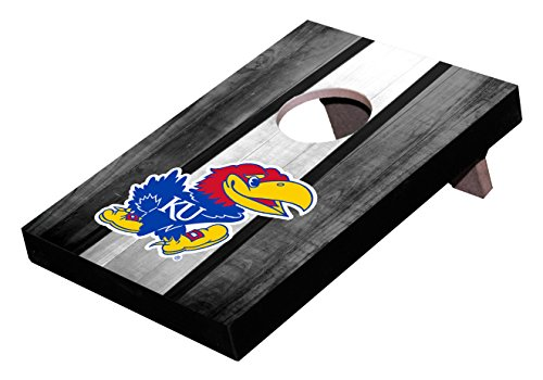 Wild Sports NCAA College Kansas Jayhawks Mini Cornhole Game