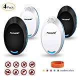 FOCUSPET Ultrasonic Pest Repeller, Electronic Repellent Plug in Indoor Pest Control Ultrasonic Insect & Bug Repellent for Mice, Rat, Mosquito, Eco-Friendly 4 Pack Bugs Repeller