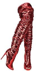 Women's Over Knee Sequin High Heel Boots