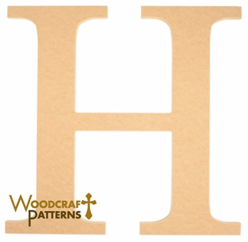 16″ Capital Letter H Times New Roman Unfinished Wood DIY Craft Cutout to Sell Ready to Paint Wooden Stacked