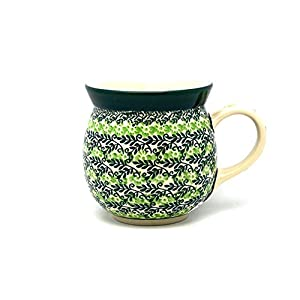 Polish Pottery Mug – 15 Oz. Bubble – Irish Meadow by Polish Pottery Gallery