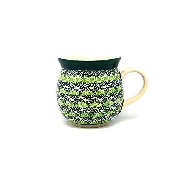 Polish Pottery Mug–15Oz. Bubble–Irish Meadow by Polish Pottery Gallery