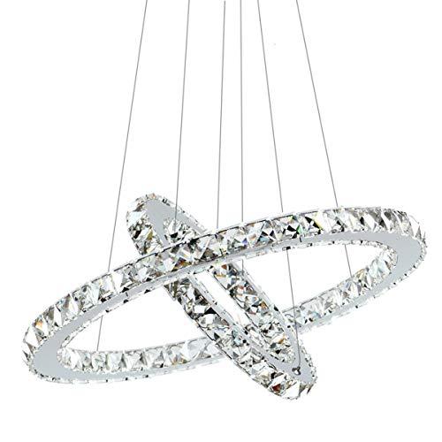 Cheap  Antilisha Crystal Chandelier Modern LED Ceiling Light Pendant Lighting 2 Rings for..