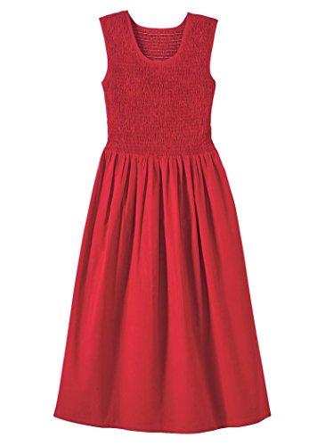 AmeriMark Smocked Bodice Sundress Red