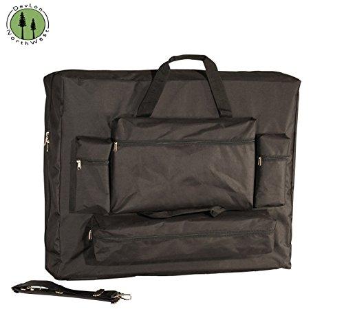 DevLon-NorthWest-Universal-Massage-Table-Carrying-Case-28-4-Front-Pockets-Black