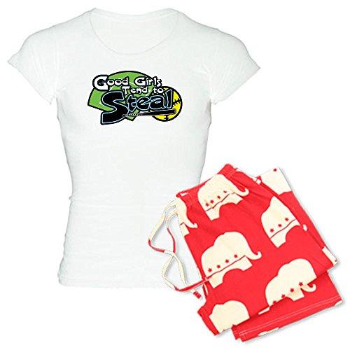 Womens Steal Softball Shorts (CafePress - Softball Good Girls Steal - Womens Novelty Cotton Pajama Set, Comfortable PJ Sleepwear)