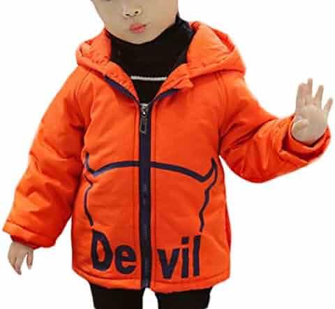 e46deea3f20 Jelord Toddler Kids Winter Hooded Thick Down Jackets Cute Devils Wings  Fancy Cartoon Warm Cotton Puffer