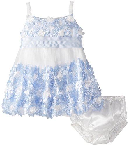 Bonnie Baby Baby Girls Jean Bubble Dress , Peri, 18 Months