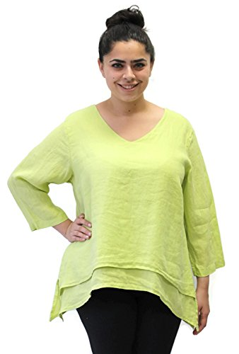 Match Point Fixsun Women's Double Layer Linen Tunic (2X (Bust 58