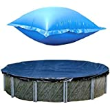 Swimline 24 Ft Round Above Ground Winter Pool Cover w/ 4'x8' Closing Air Pillow