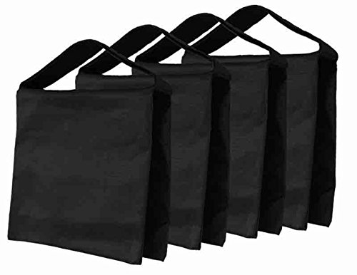 Fasmov Heavy Duty Photographic Sandbag Studio Video Sand Bag for Light Stands, Boom Stand, Tripod ,Pack of 4(Black) by Fasmov