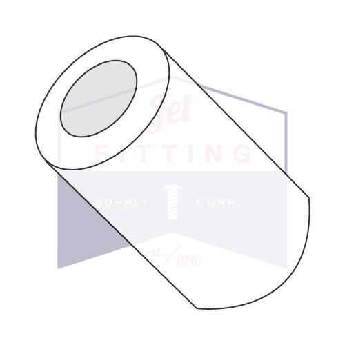 5/16'' OD Round Spacers / #4 x 1'' / Nylon / Outer Diameter: 5/16'' | Hole Size: #4 | Length: 1'' (QUANTITY: 1,000 pcs) Made in USA by Jet Fitting & Supply Corp (Image #1)