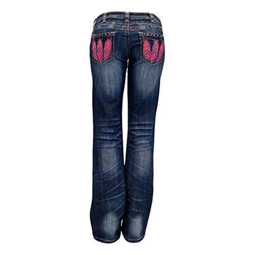 Cowgirl Tuff Western Denim Jeans Womens Fly Free Feather Med JFFRPK
