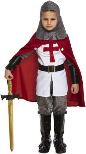 Boys Medieval Crusader Knight Childrens Fancy Dress St George Costume 4-12 Years World Book Day/Week (4-6 years) by FNA Fashions - St George Knight Costume