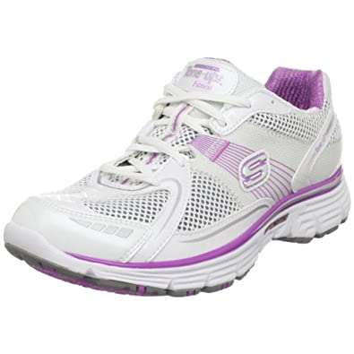 Skechers Women's Ready Set Tone Sports Shoe White/Pink UK