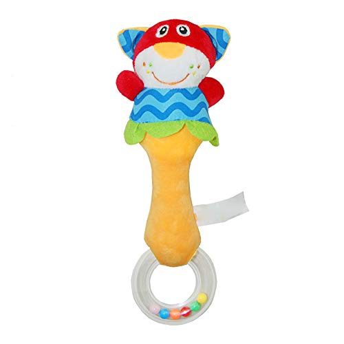 Gbell  Baby Wrist Rattles for Infants Boys,Baby Plush Animal Handbells Cute Hand Bell Rattler Developmental Toys Infant Rattles Plush Animal Doll Educational Toy