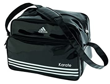 adidas Retro Umhänge Tasche schwarz Karate, Gr. L:
