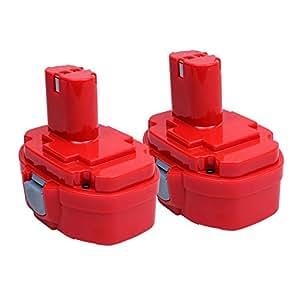 Vanon 2000mAh 18V Ni-Cd batería de repuesto batería para Makita 1822, 1823, 1834, 1835, 1835PA18, 192827–3, 192829–9, 193159–1, 193140–2, 193102–0, 192826–5