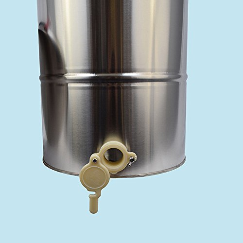 Funwill Shipping from USA Two 2 Frame Stainless Steel Bee Honey Extractor Honeycomb Drum Fits Shallow, Mdium and Deep Frames Tank Warm Soapy Water Equipment Machine Set by Funwill (Image #3)