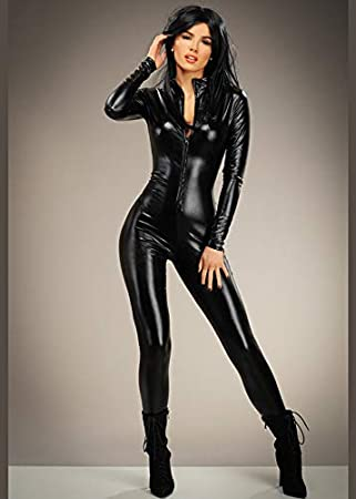 Magic Box Disfraz de Catwoman Catsuit Negro para Mujer S (UK 8-10 ...